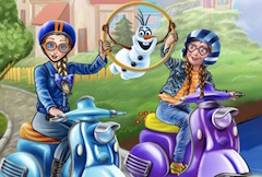Anna y Elsa scooters