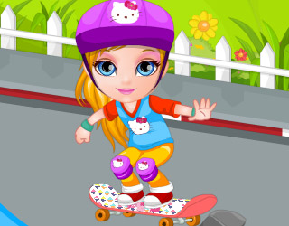 Baby Barbie accidente con patineta