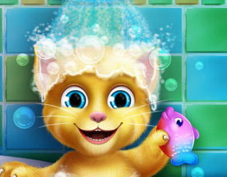 Baby Ginger hace baño