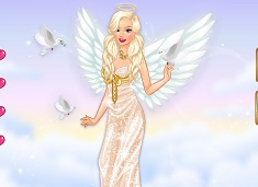 Barbie angel hermoso para vestir