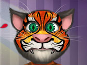 Gato Talking Tom Tatuaje en el Rostro