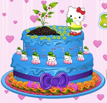 Hello Kitty pastel de la primavera