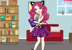 Kitty Cheshire fiesta con los libros