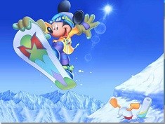 Mickey Mouse snowboard puzzle