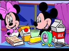 Minnie y Mickey cocinan